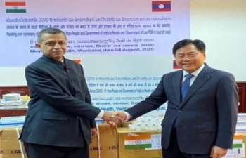 India gifts Medicines and Medical Items to Lao PDR