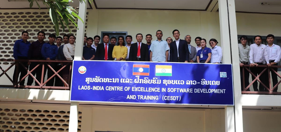 Ambassador Dinkar Asthana attending Certificate Distribution Ceremony to the successful participants in different courses held at Lao-India Centre for Excellence in Software Development and Training, Vientiane.